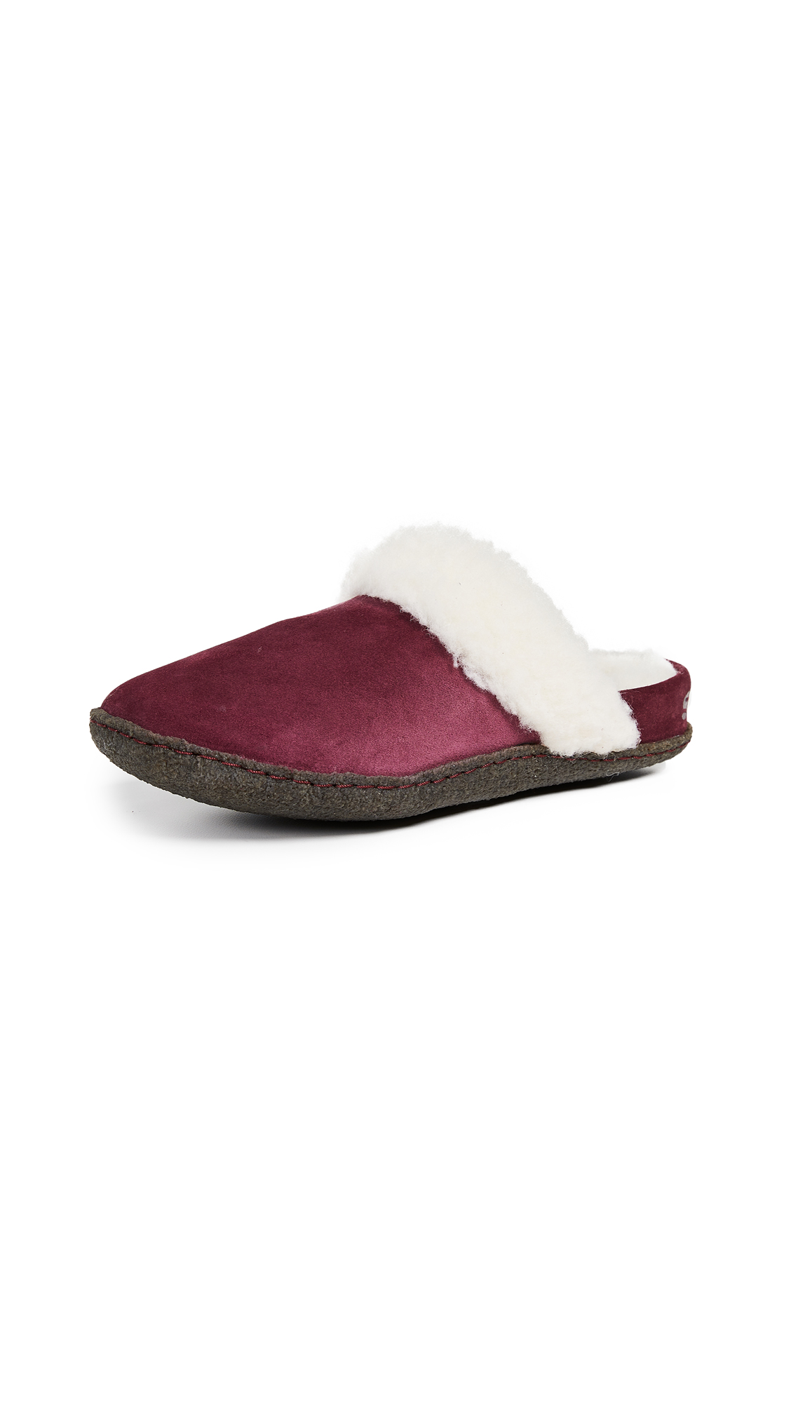 Sorel Nakiska Slide II Slippers - Rich Wine