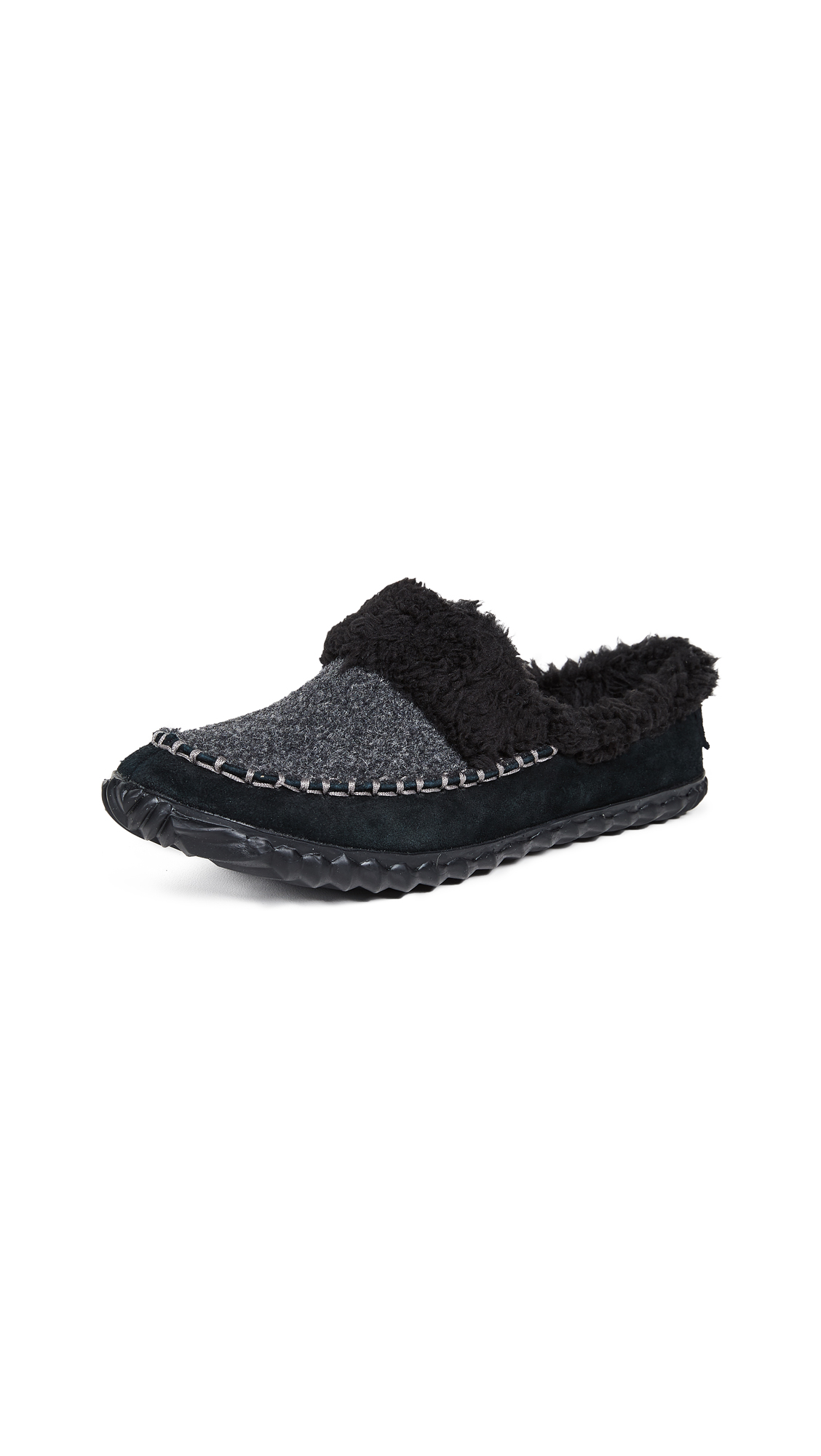Sorel Out N About Slide Slip On Slippers - Black/Charcoal