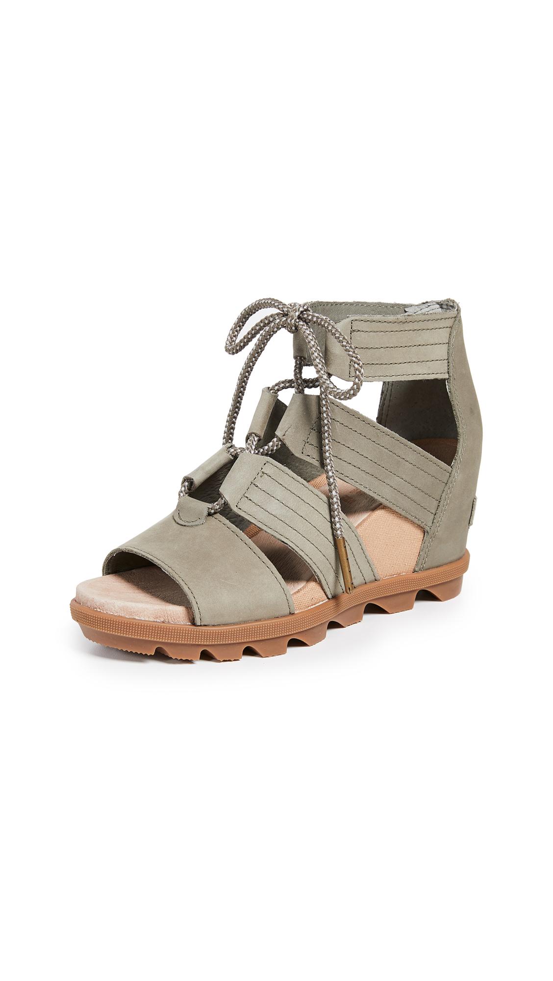 Sorel Joanie II Lace Wedge Sandals - Sage