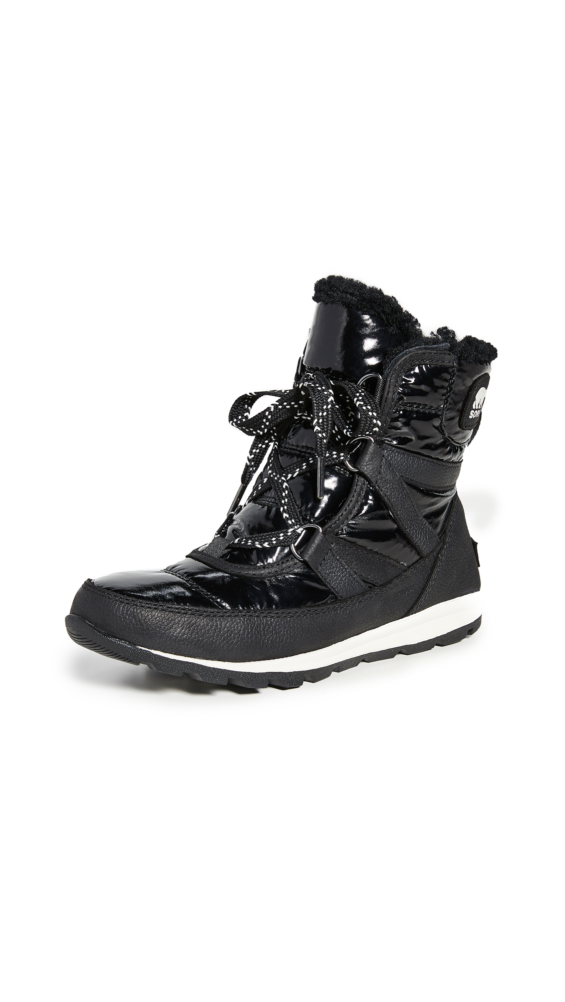 Buy Sorel online - photo of Sorel Whitney Short Lace Patent Boots