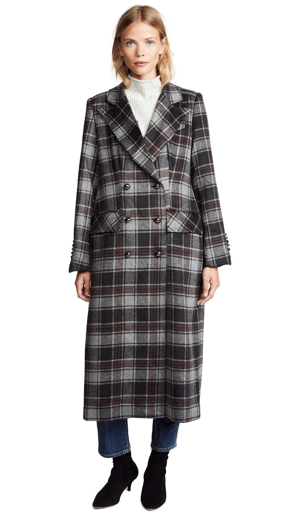 Sosken Gin Plaid Coat