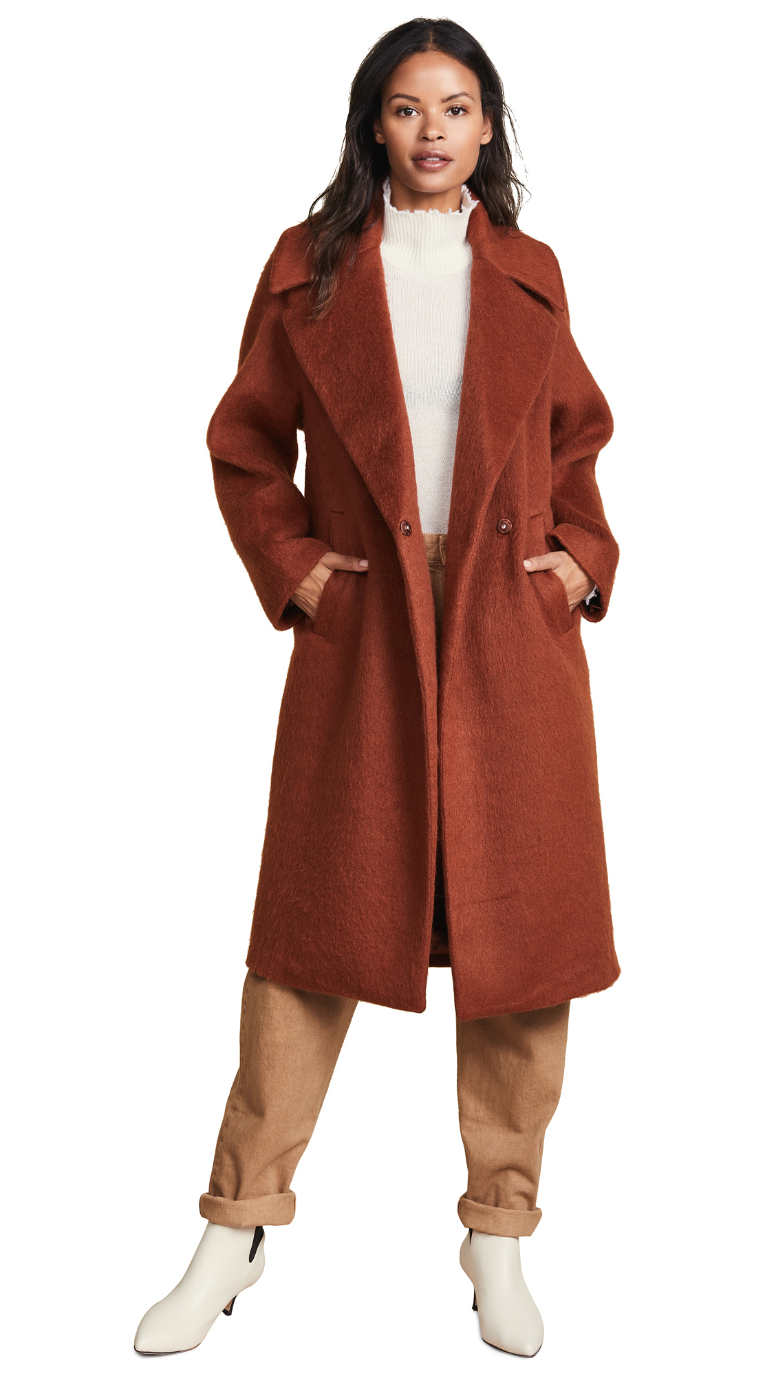 Sosken Gigi Coat In Rust