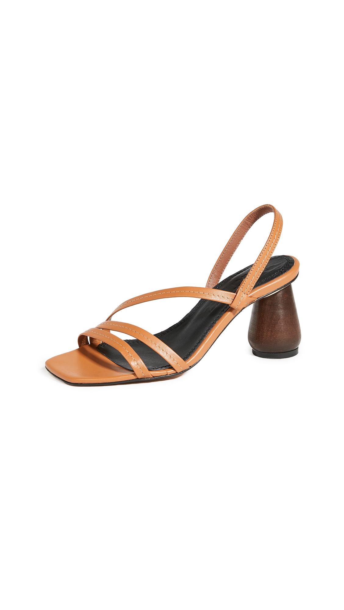 Buy Souliers Martinez 80mm Can Maroig Sandals online, shop Souliers Martinez