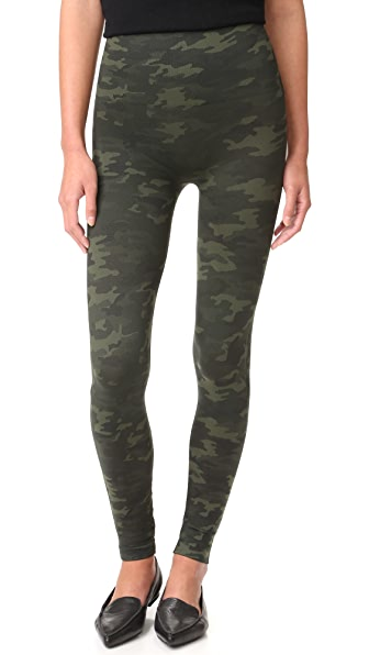 SPANX Seamless Camo Leggings - Green Camo