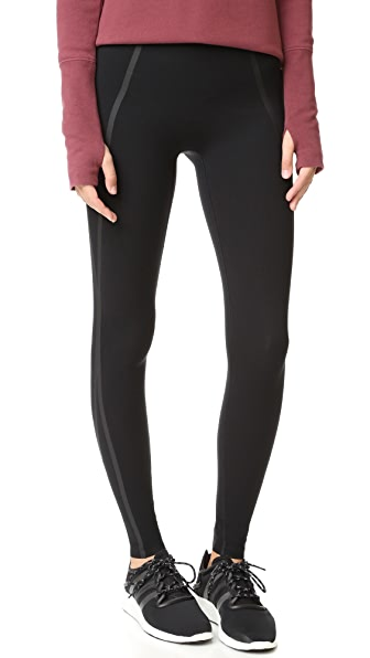 SPANX Every Wear Mesh Contour Leggings In Very Black