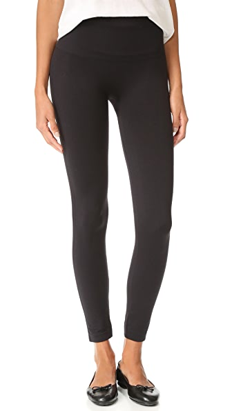 SPANX Look at Me Now Cropped Seamless Leggings In Very Black