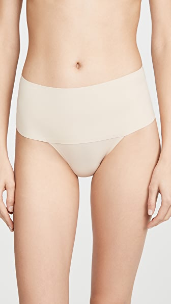 Spanx Women's Undie-tectable Thong Sp0115 In Soft Nude