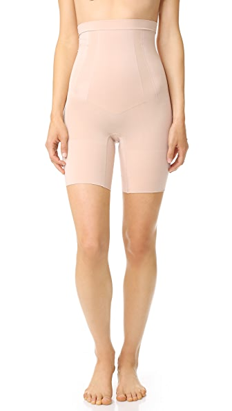 SPANX High Waist Mid Thigh Shorts - Soft Nude