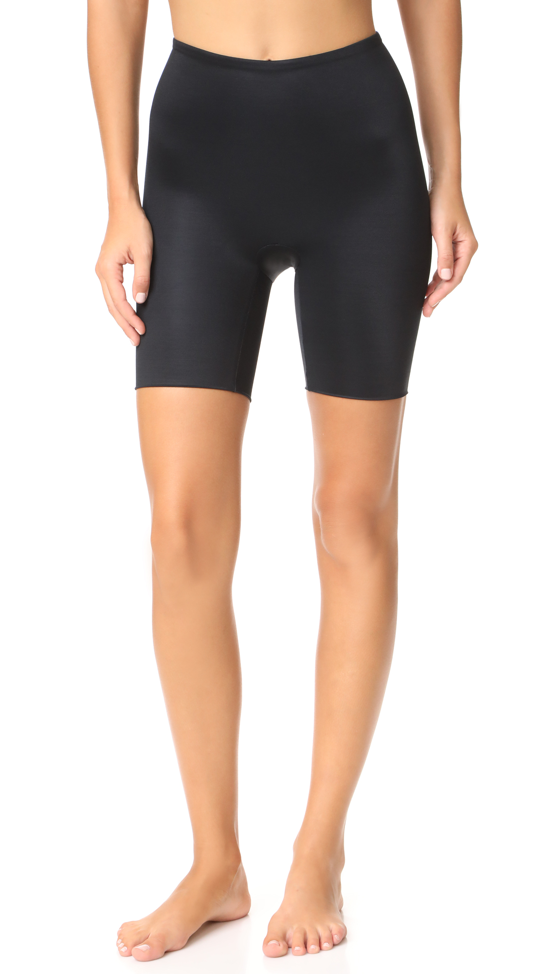 SPANX Power Conceal-Her Mid Shorts In Very Black