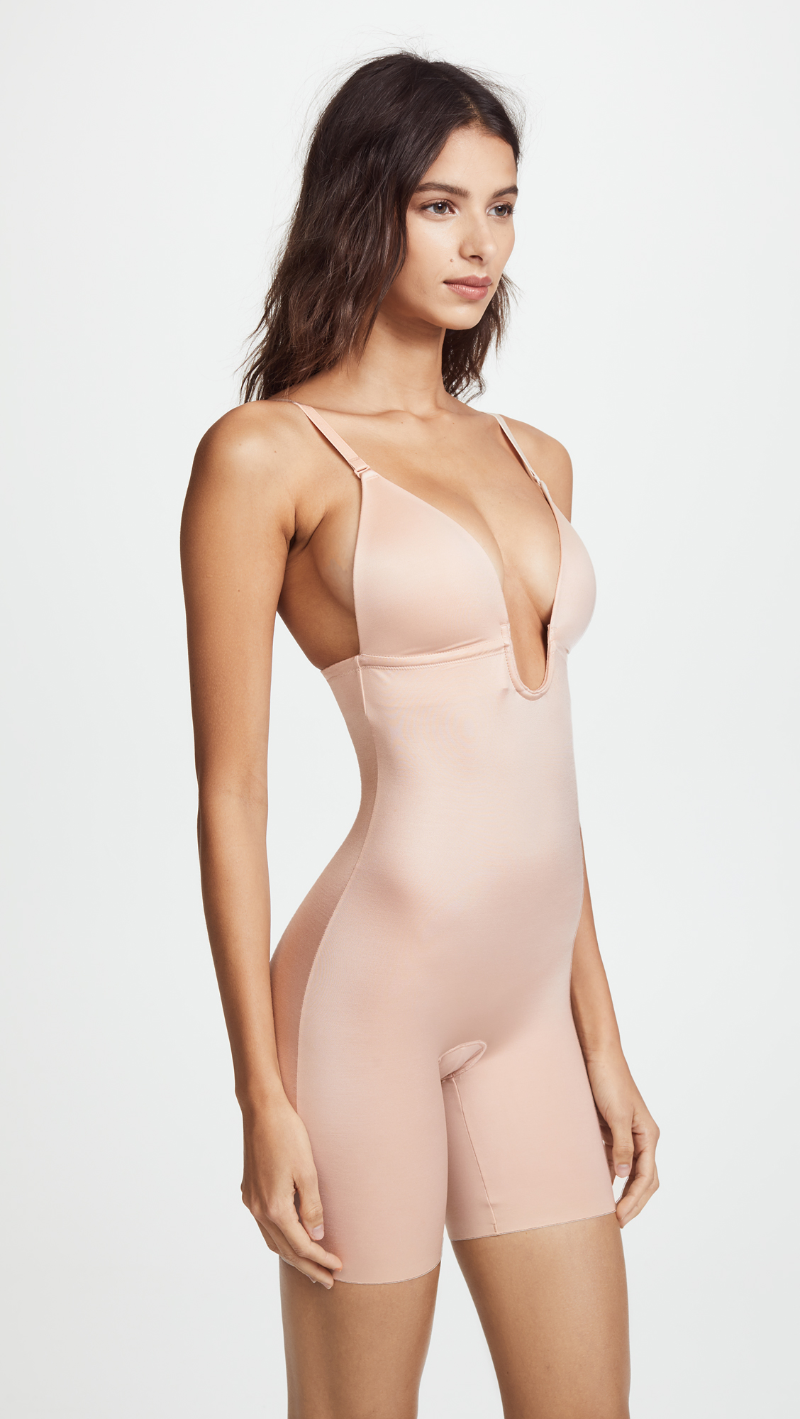 939f3178e3 SPANX Suit Your Fancy Plunge Low-Back Mid-Thigh Bodysuit