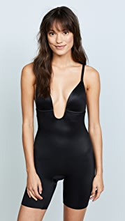 SPANX Suit Your Fancy Plunge Low-Back Mid-Thigh Bodysuit