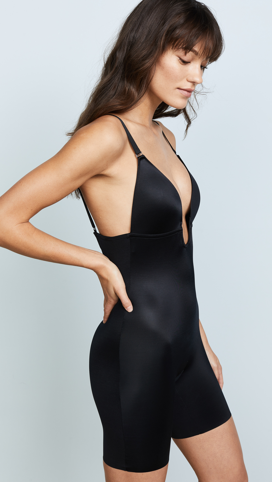 SPANX Suit Your Fancy Plunge Low-Back Mid-Thigh Bodysuit  12a7cda8a