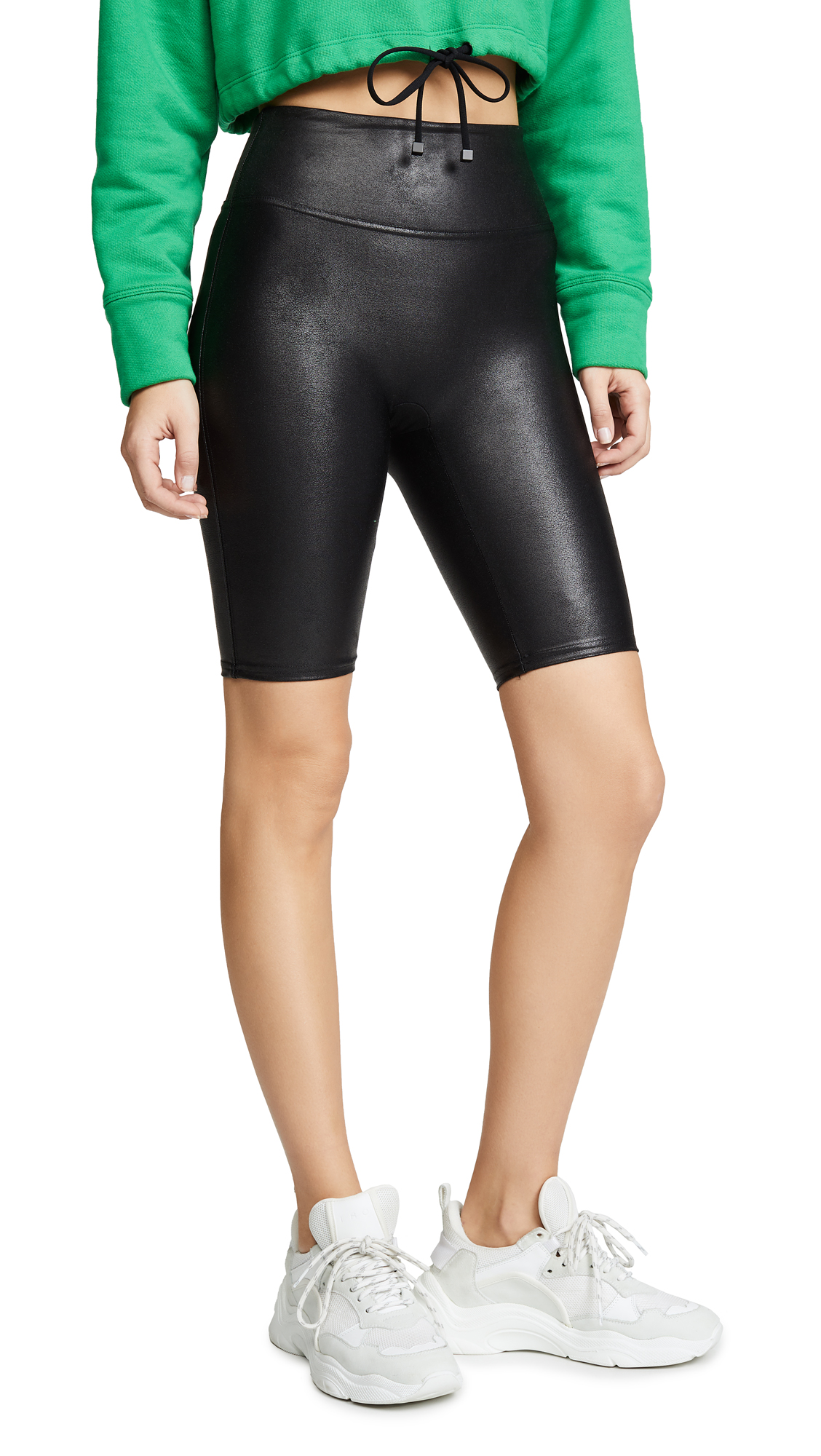 SPANX Faux Leather Bike Shorts