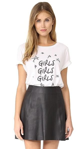 South Parade Girls Girls Girls Tee - White