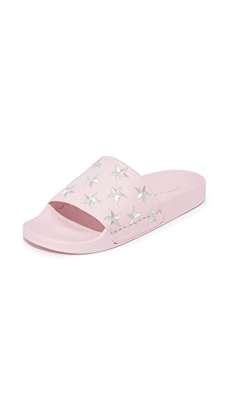 South Parade Stars Pool Slides - Pink/Silver