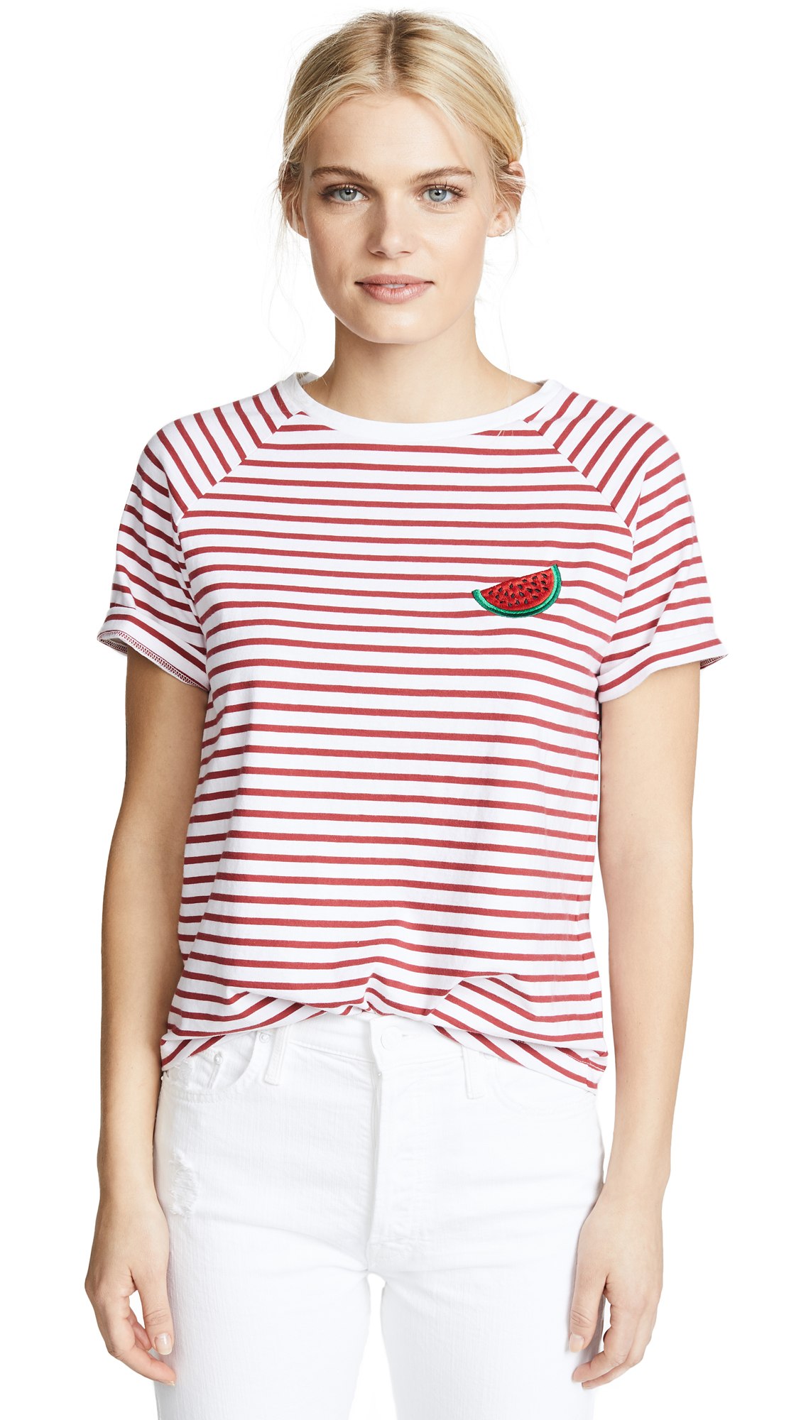 SOUTH PARADE WATERMELON STRIPED TEE