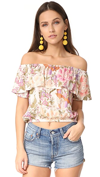 SPELL Blue Skies Off Shoulder Top