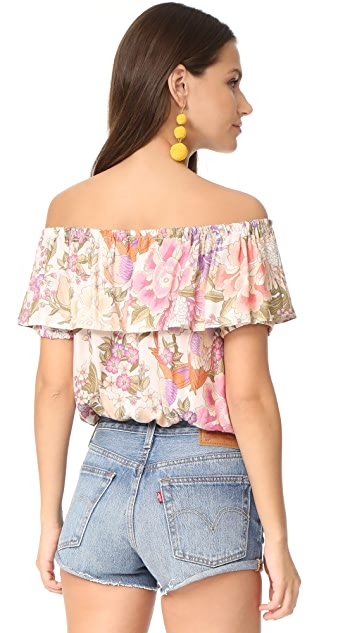 Spell and the Gypsy Collective Blue Skies Off Shoulder Top