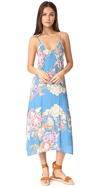 SPELL Blue Skies Slip Dress