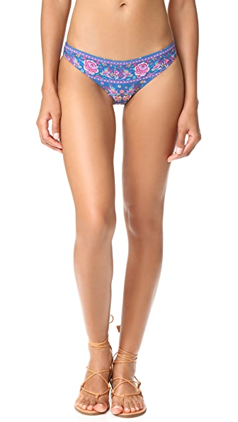SPELL Hotel Paradiso Bikini Bottoms In Navy