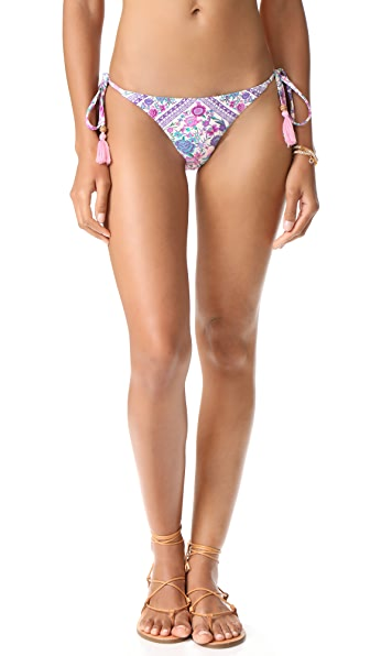 SPELL Babushka Tie Side Bikini Bottoms In Lavender