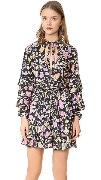 SPELL Sayulita Frill Mini Dress In Nightshade
