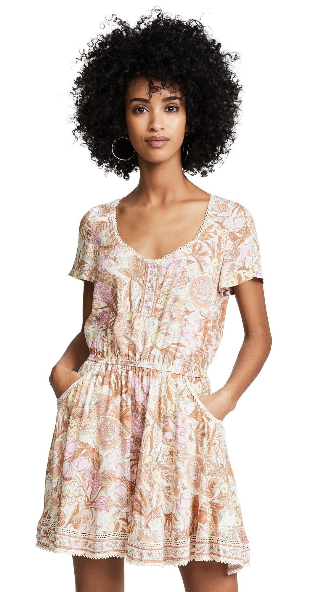 SPELL AND THE GYPSY COLLECTIVE Jungle Mini Dress in Cream