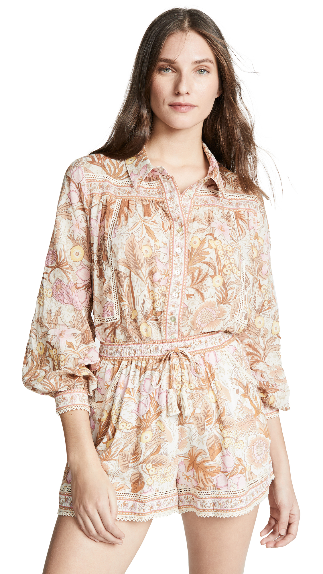 SPELL AND THE GYPSY COLLECTIVE Jungle Blouse in Cream
