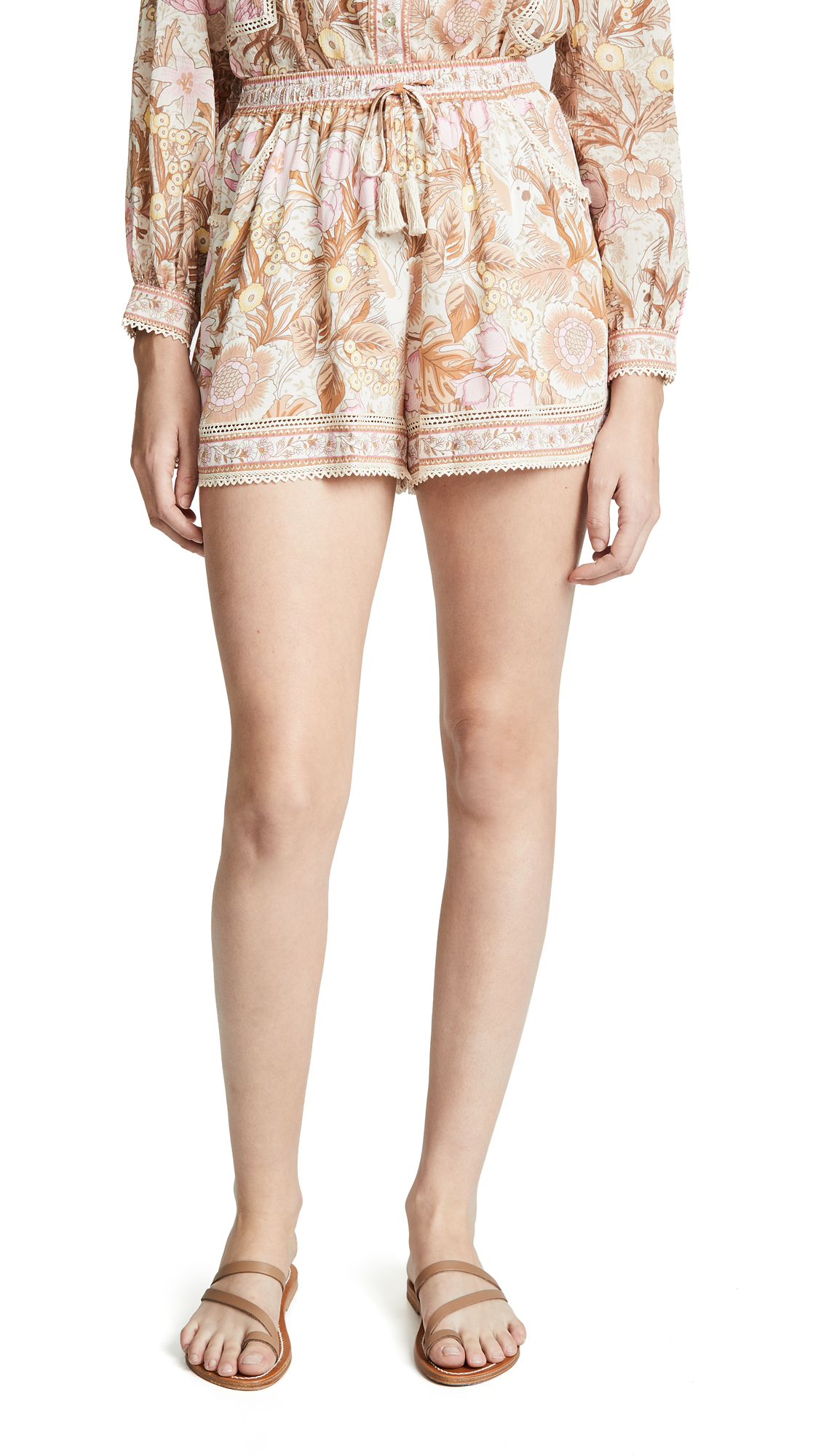 SPELL AND THE GYPSY COLLECTIVE Jungle Flutter Shorts in Cream