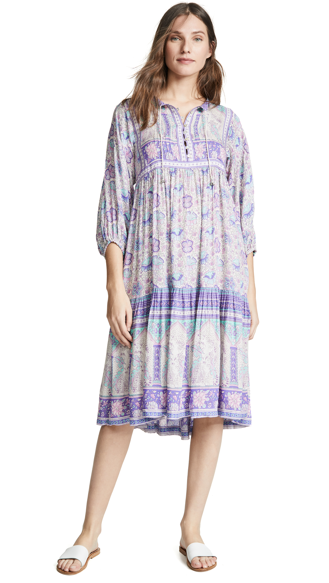 SPELL AND THE GYPSY COLLECTIVE Poinciana Gown in Lilac