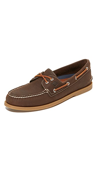 Sperry A/O 2 Eye Cross Lace Boat Shoes