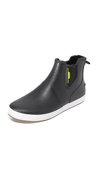 Sperry Flex Deck Chelsea Rain Boots - Black/Lime