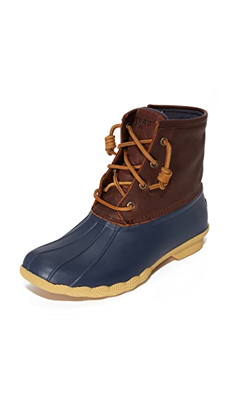 Sperry Saltwater Thinsulate Booties - Tan/Navy