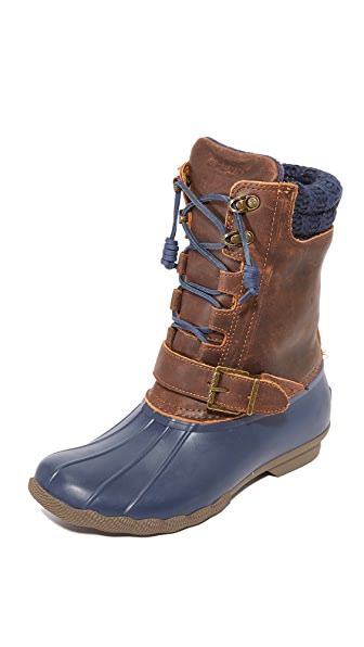 Sperry Saltwater Misty Boots - Navy/Brown