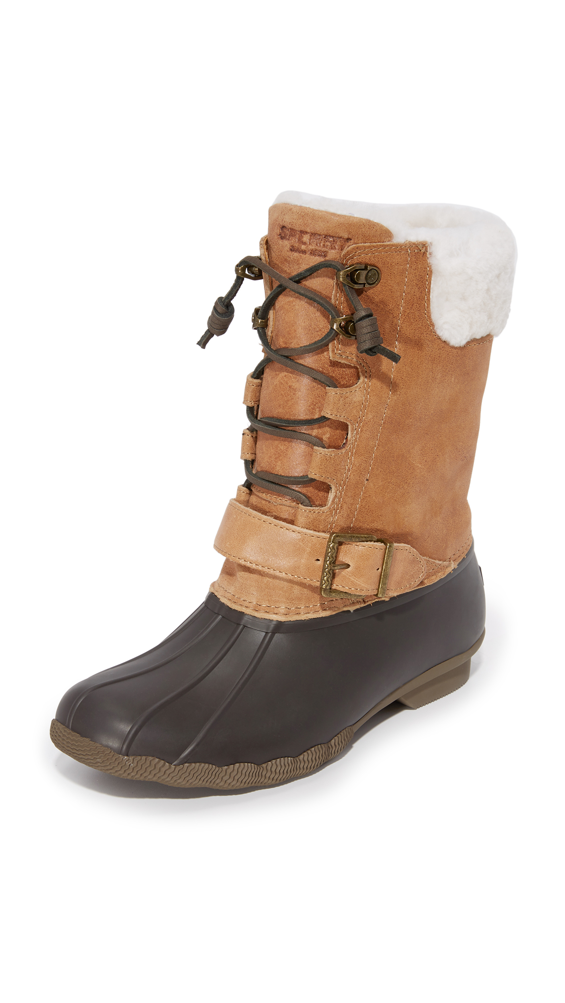 sperry female sperry saltwater misty boots brownnatural
