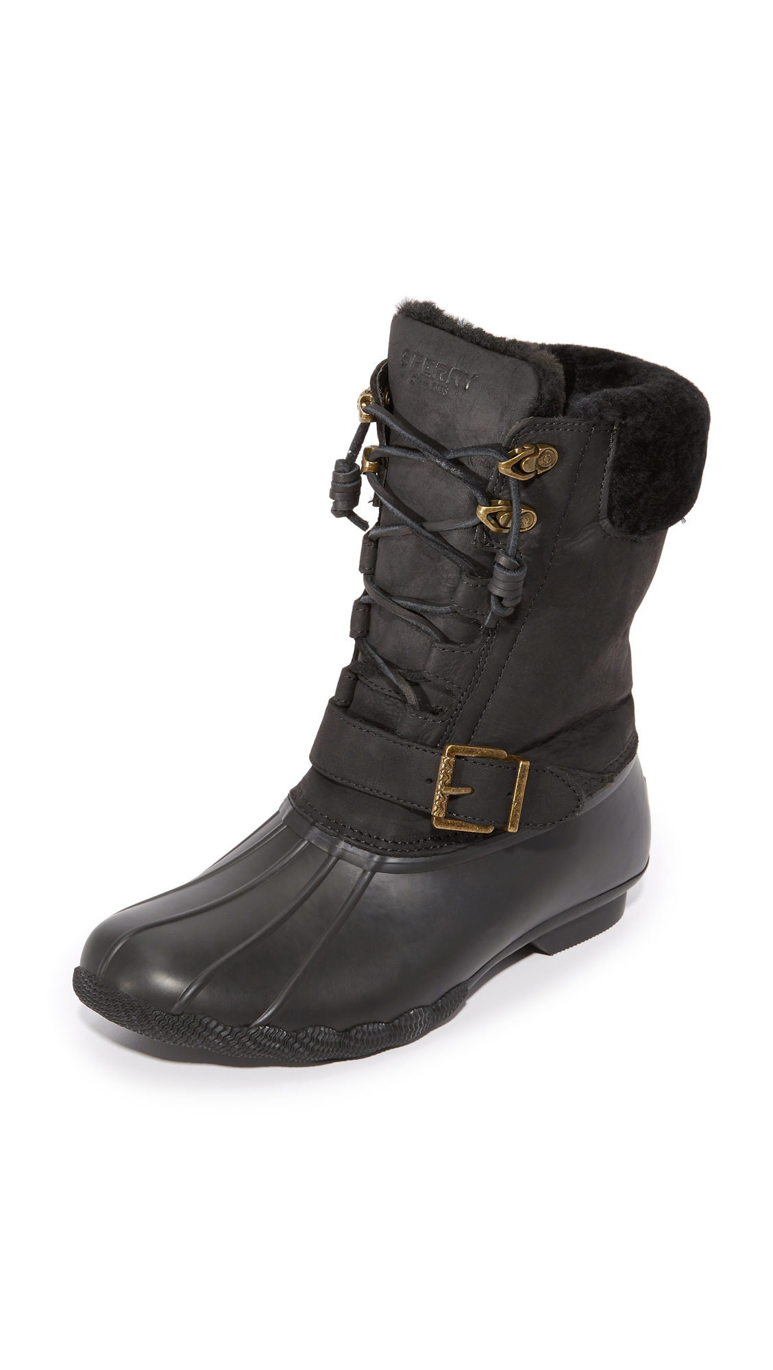 sperry female sperry saltwater misty boots black