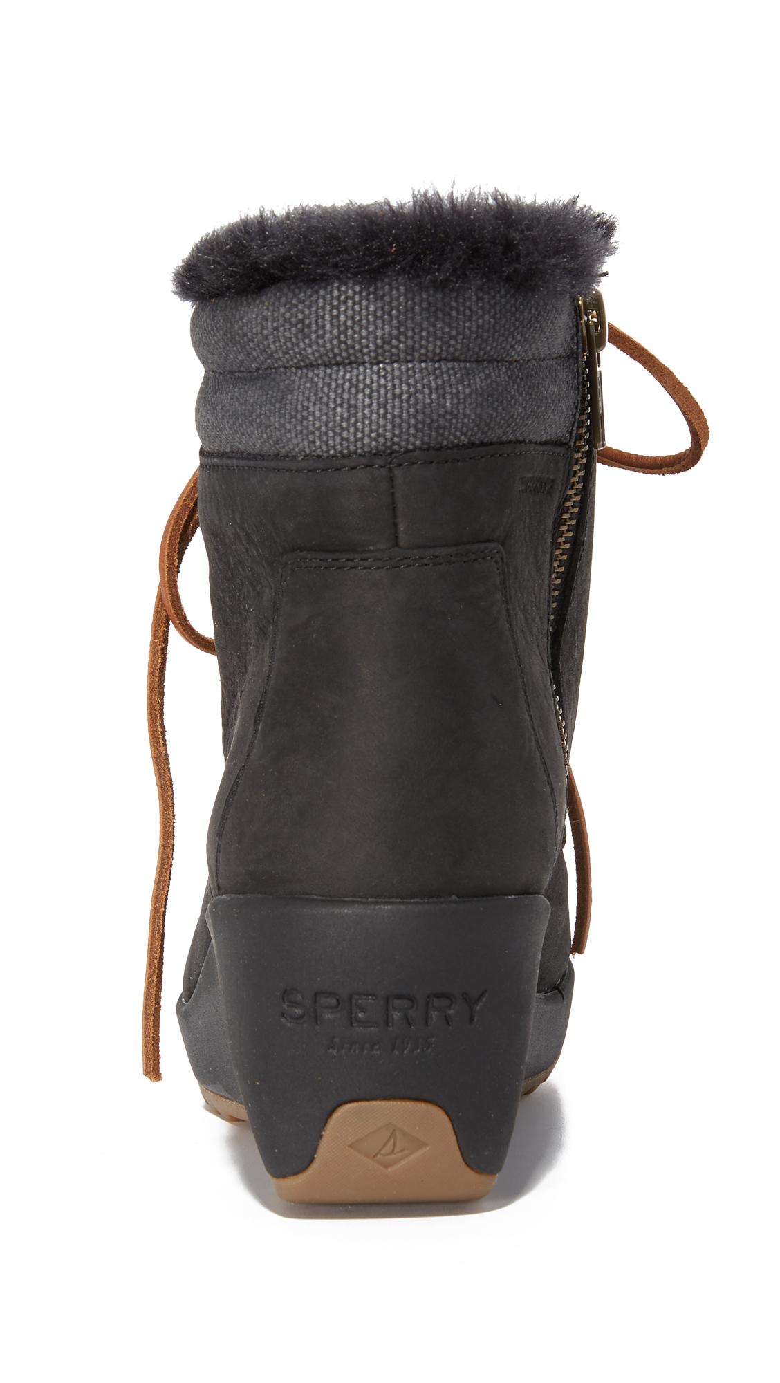 076039fd524d Sperry Luca Peak Wedge Booties