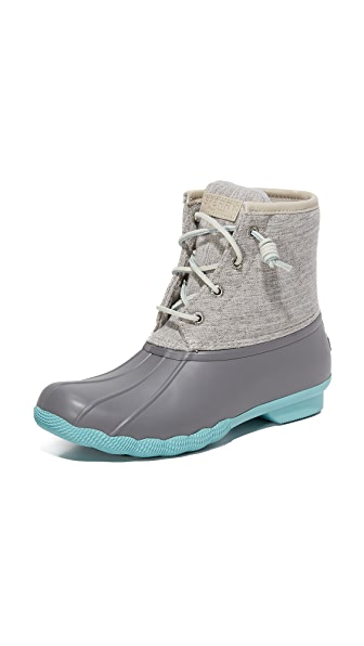 Sperry Saltwater Booties - Grey/Natural