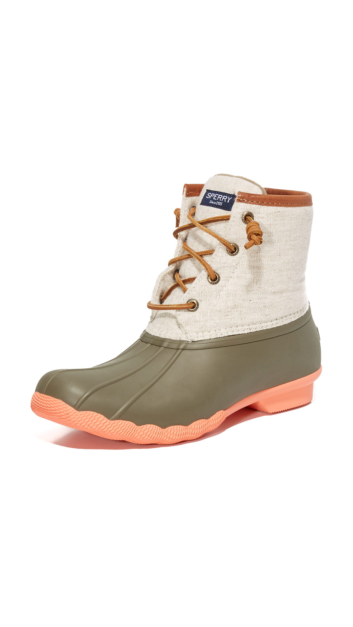 sperry female sperry saltwater booties taupenatural