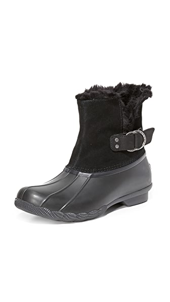Sperry Saltwater Ivy Faux Fur Booties - Black