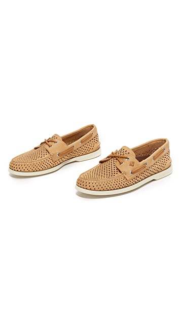 Sperry A/O 2 Eye Laser Perforated Boat Shoes