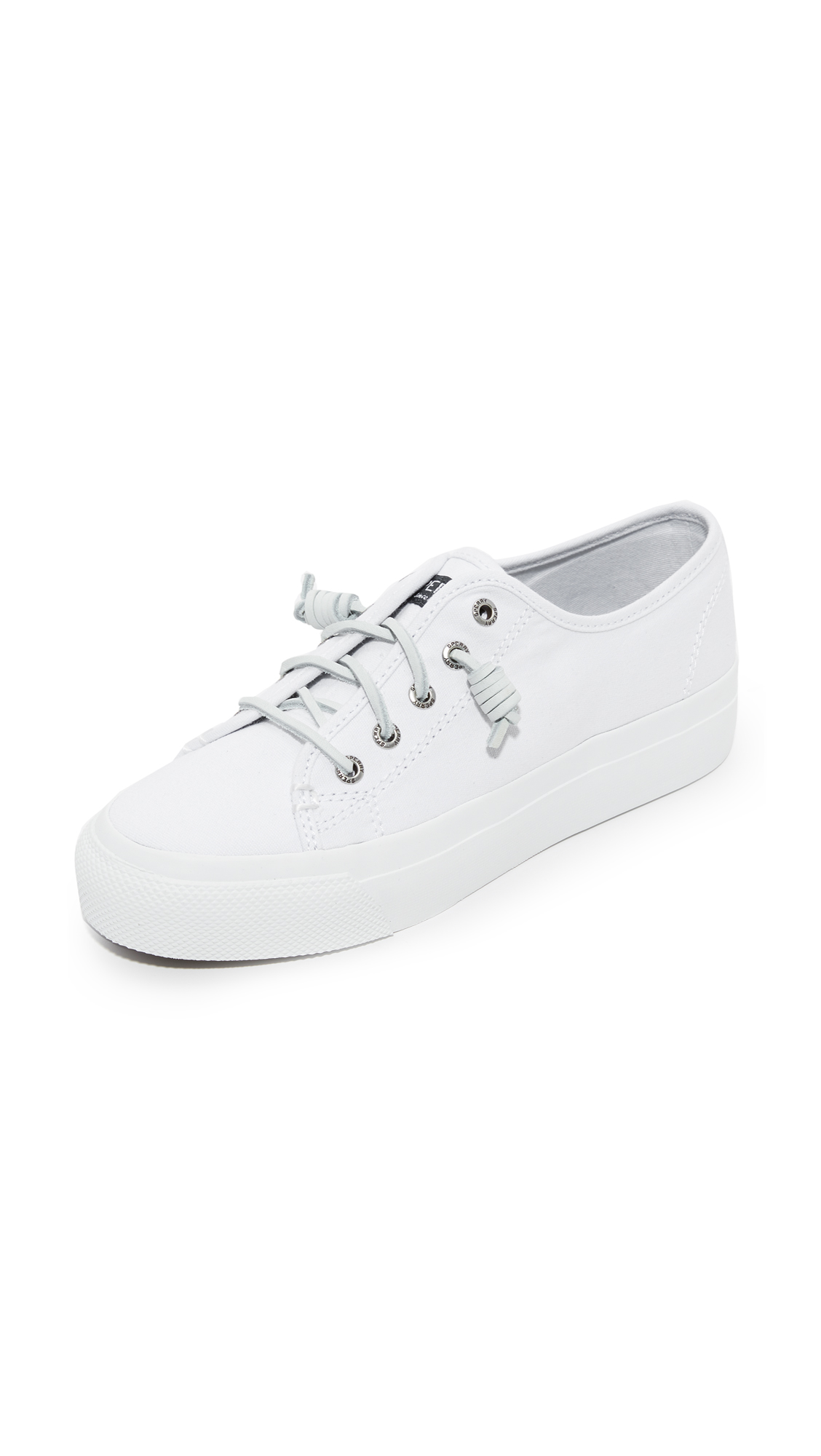 Sperry Sky Sail Platform Sneakers - White