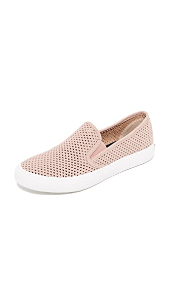 Sperry Seaside Perforated Slip On Sneakers - Rose