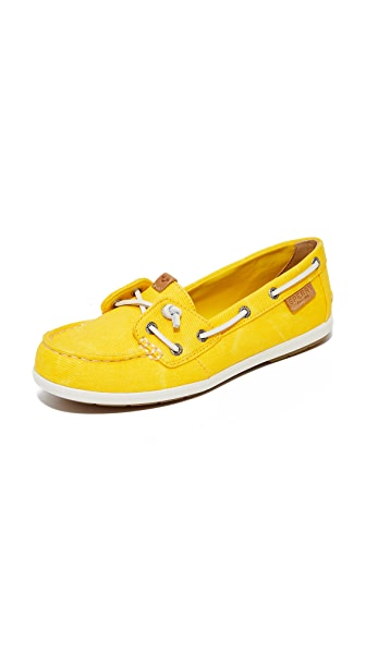 Sperry Coil Ivy Boat Shoes - Yellow