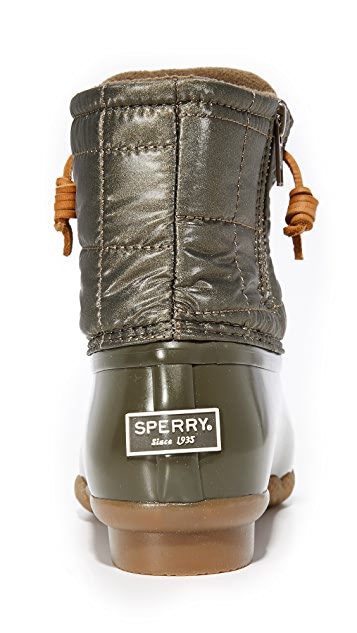 Sperry Saltwater Shiny Quilted Booties