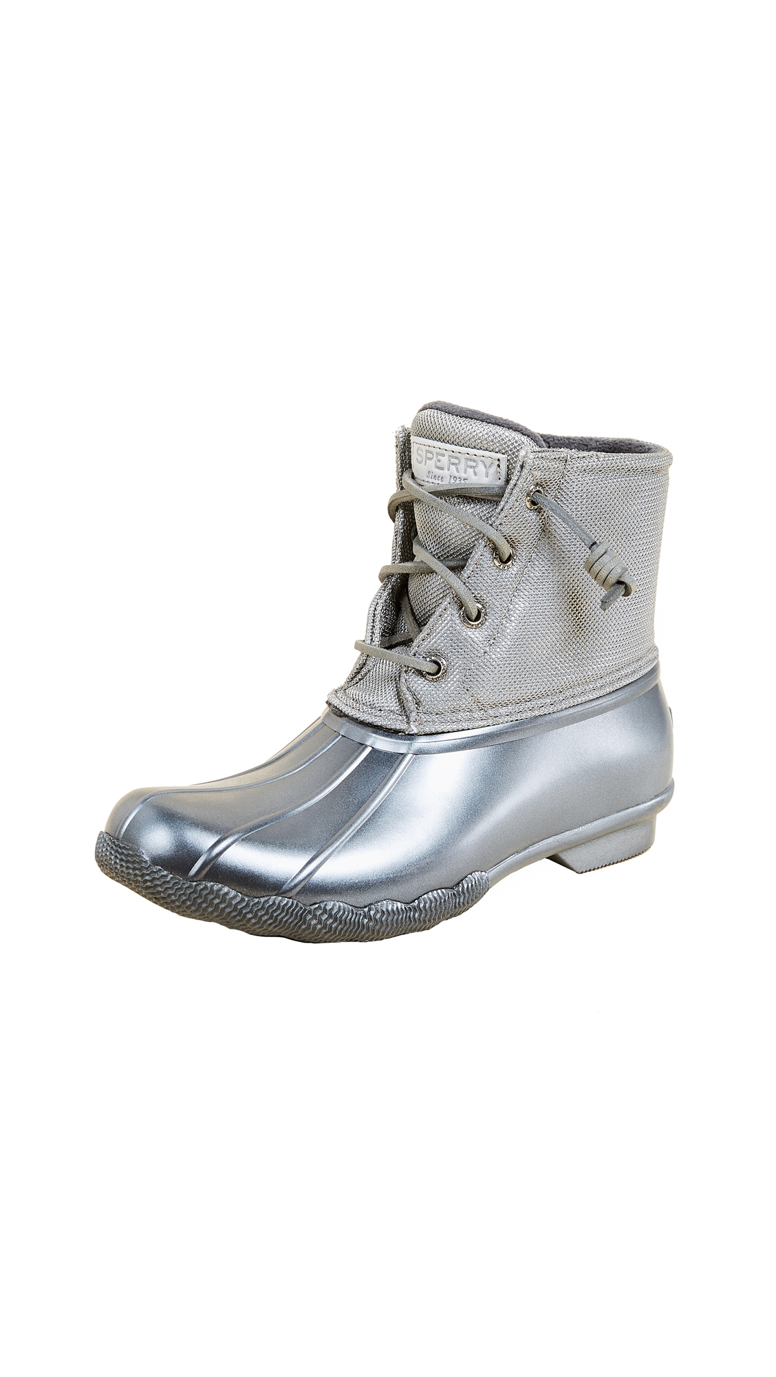 Sperry Saltwater Pearlized Rain Boots - Gunmetal