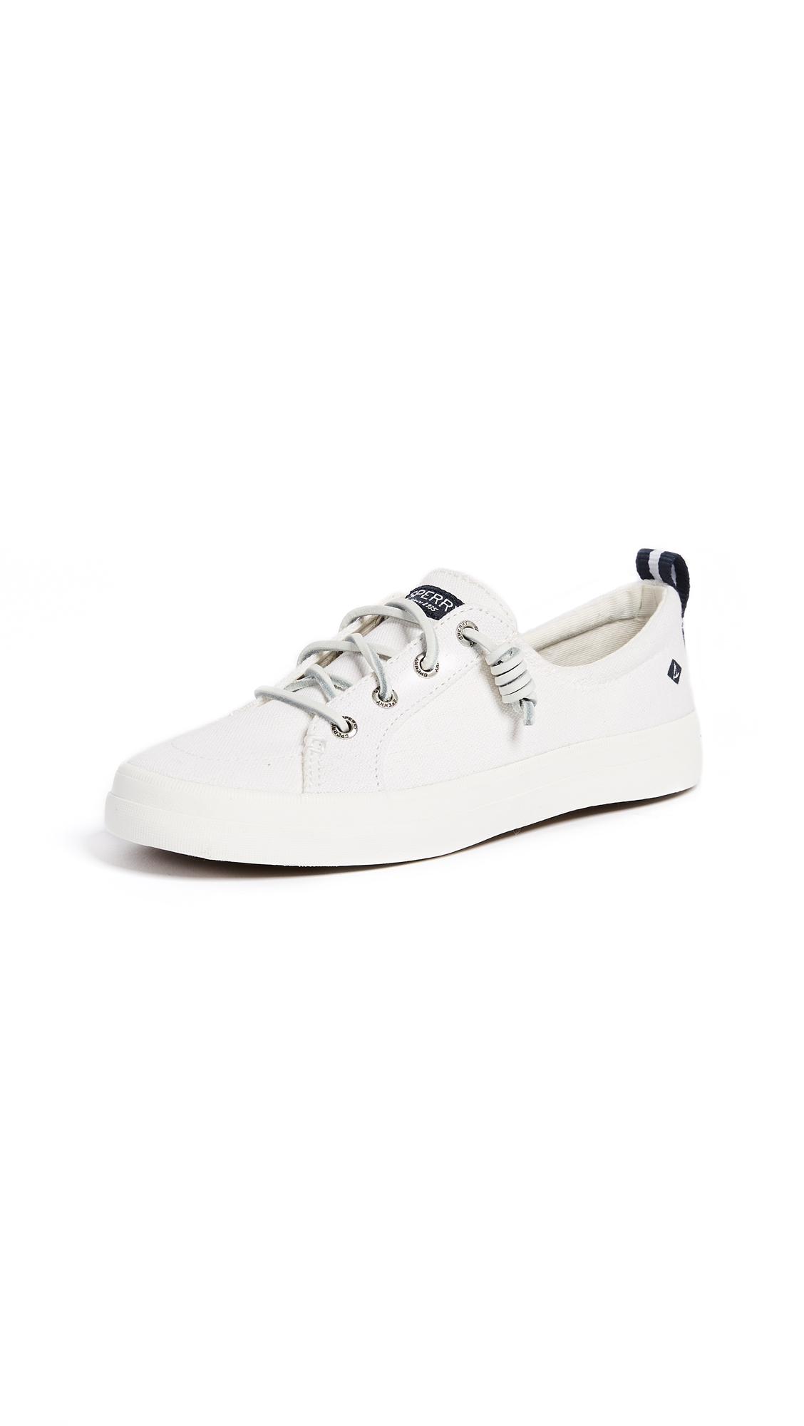 Sperry Crest Vibe Linen Sneakers - White