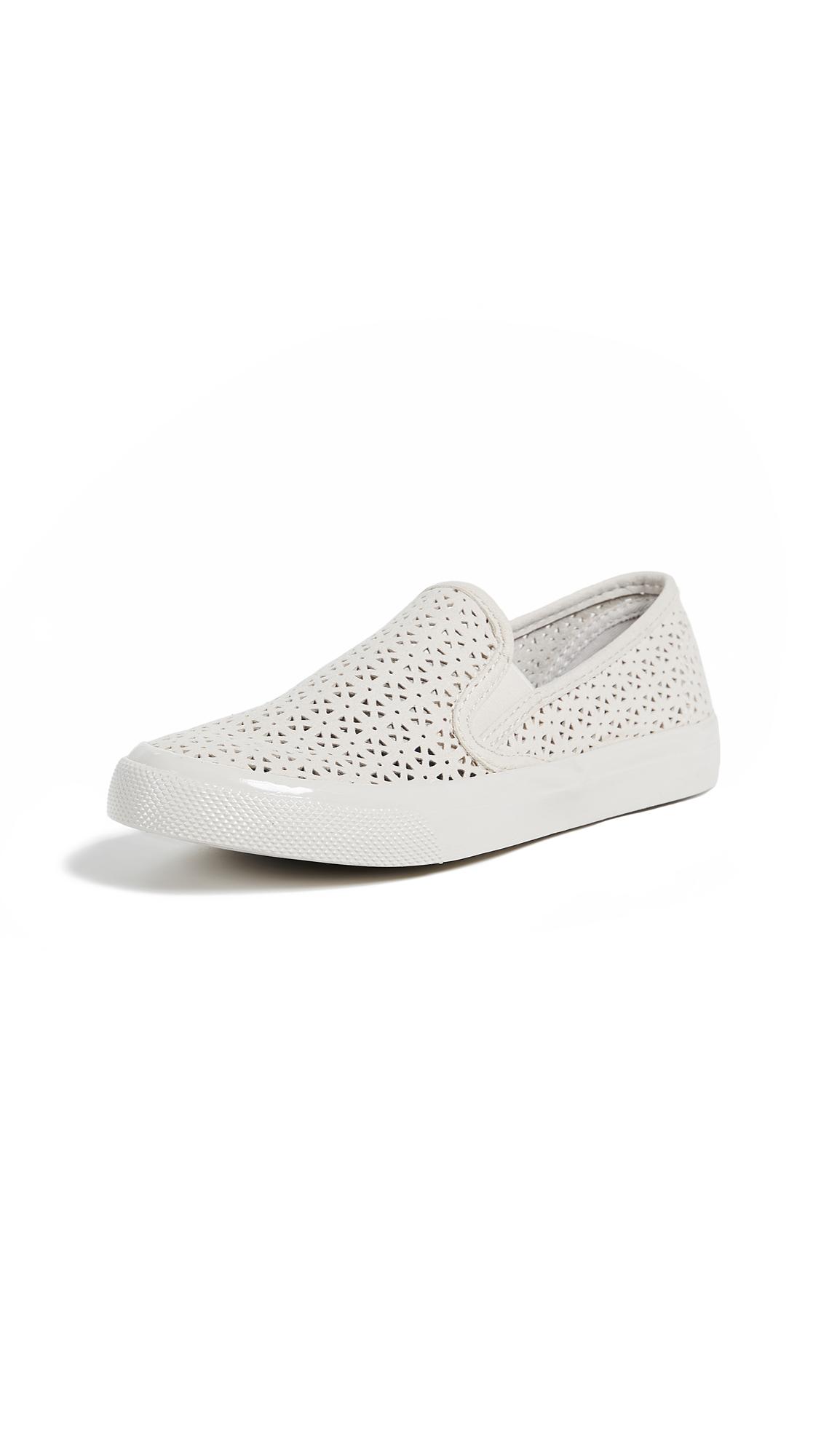 Sperry Seaside Nautical Perf Slip On Sneakers - Ivory
