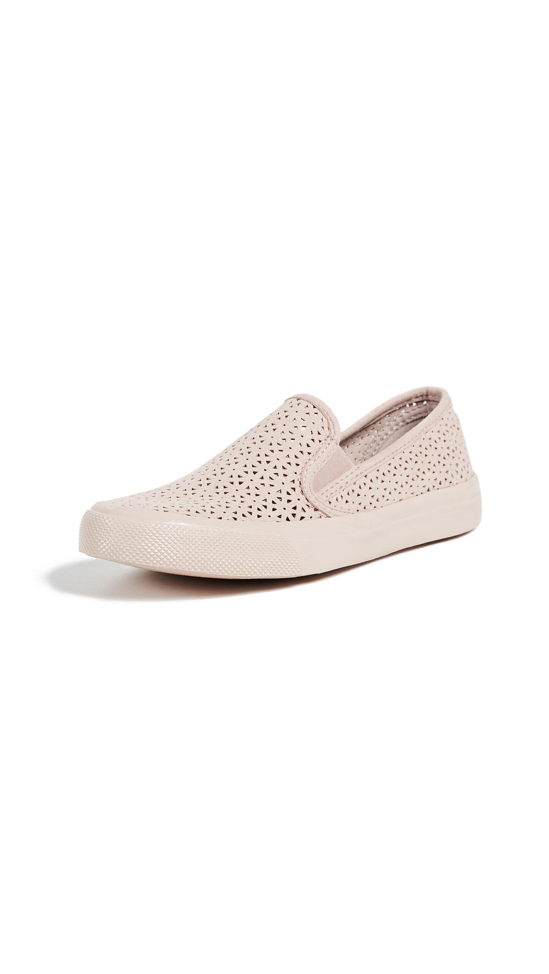 Sperry Seaside Nautical Perf Slip On Sneakers - Rose