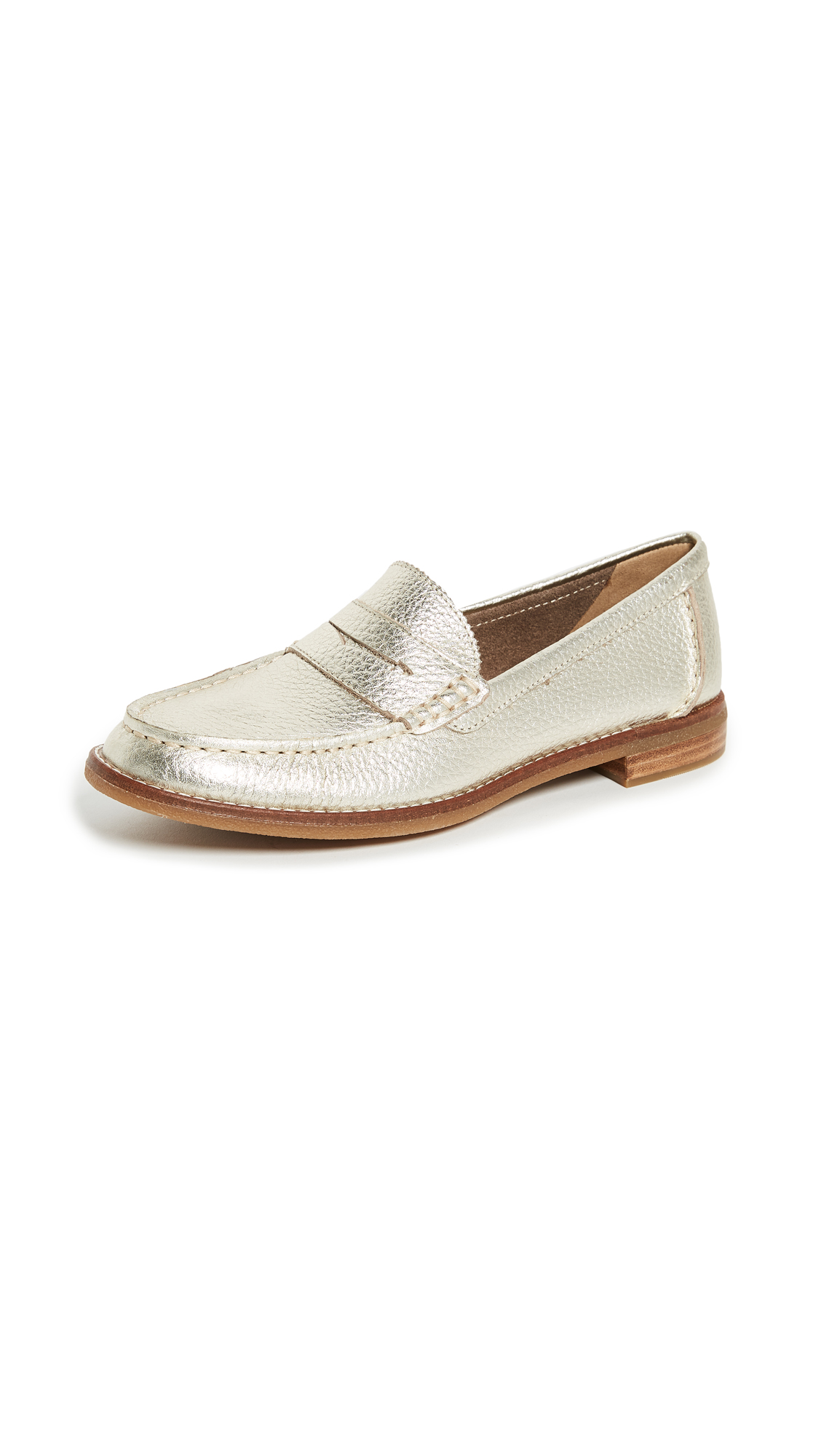 Sperry Seaport Penny Loafers - Platinum